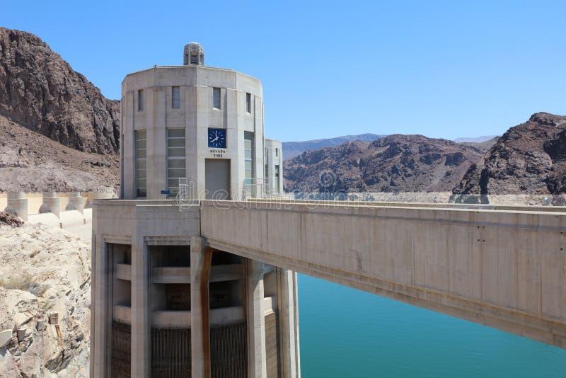 Nevada Intake Tower sur le barrage de Hoover chez le Stateline du Nevada-Arizona images stock