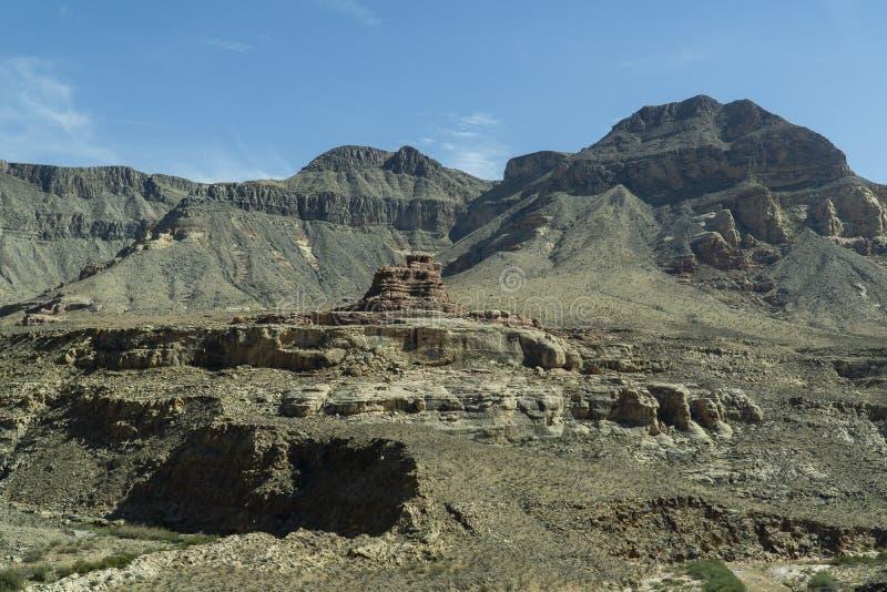 Nevada längs vägen till och med Utah arkivbild