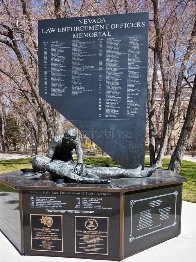 Nevada Law Enforcement Officers Memorial foto de stock royalty free