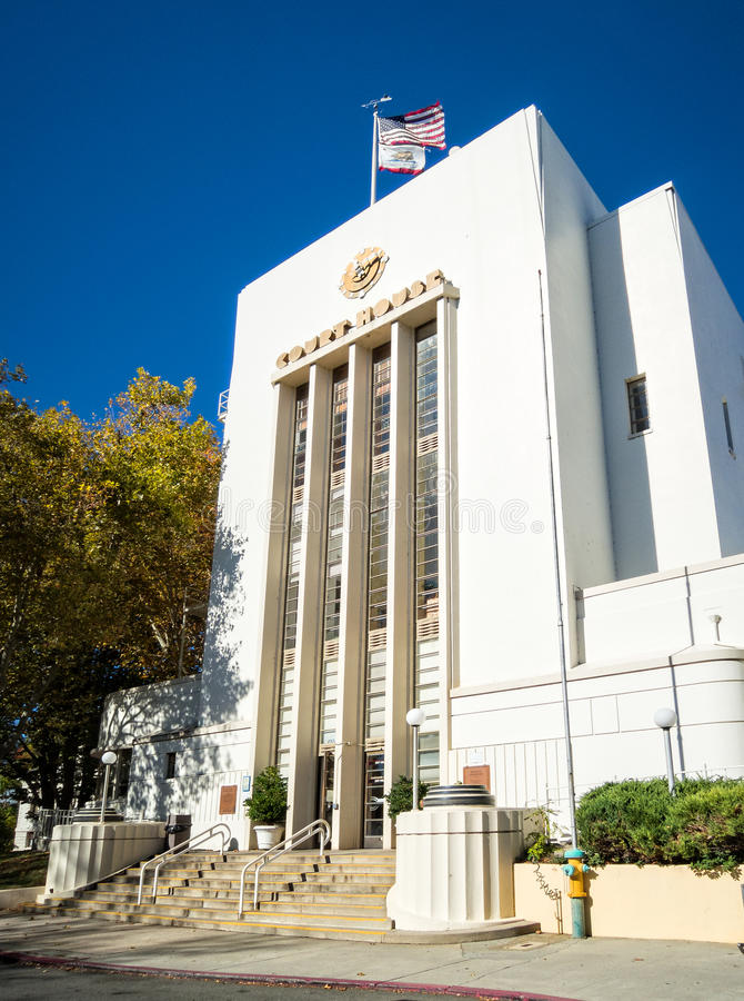 Nevada miasta, Kalifornia Historyczny gmach sądu fotografia royalty free