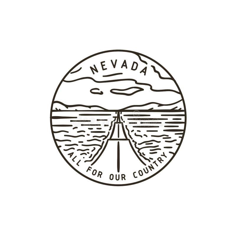 Nevada Road vector illustratie