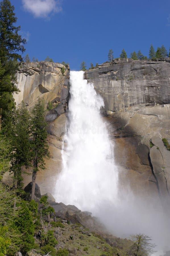Nevada spada w Yosemite parku narodowym zdjęcia royalty free