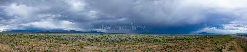 Nevada Spring Storm royalty-vrije stock fotografie