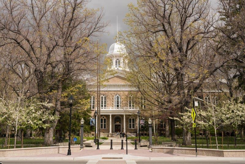 Nevada State Capitol byggnadsingång i Carson City arkivbild