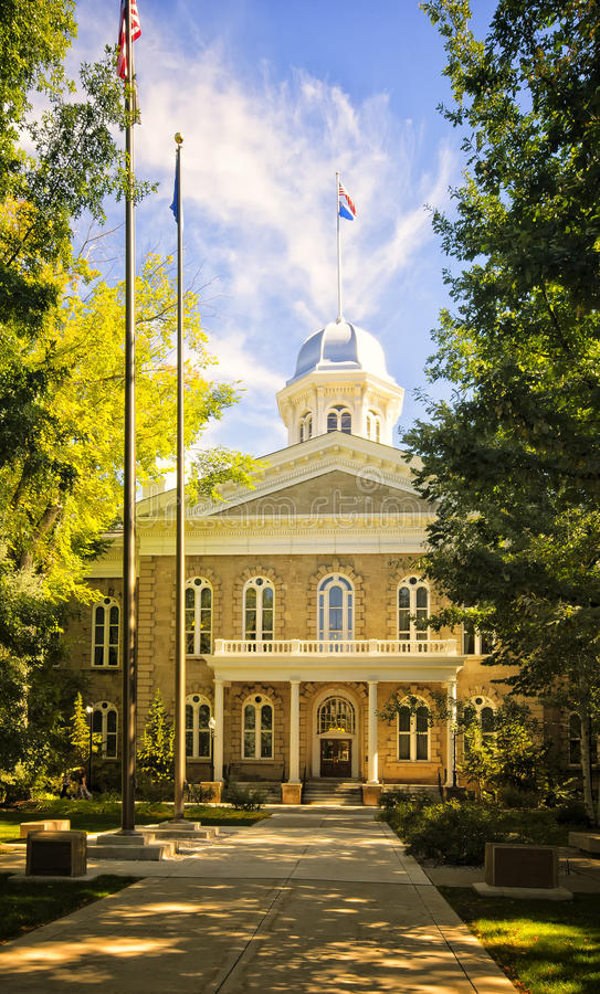 Nevada State Capitol, Carson City. The capitol building of the state of Nevada located in the state capital of Carson City, was built in the Neoclassical royalty free stock photography
