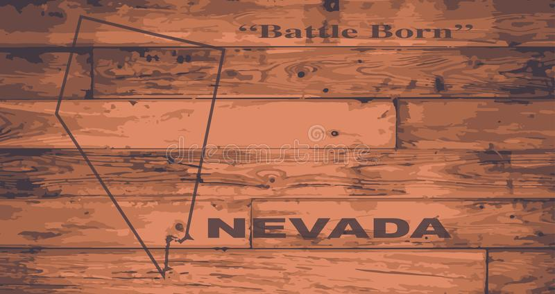 Nevada State Map Brand illustrazione vettoriale