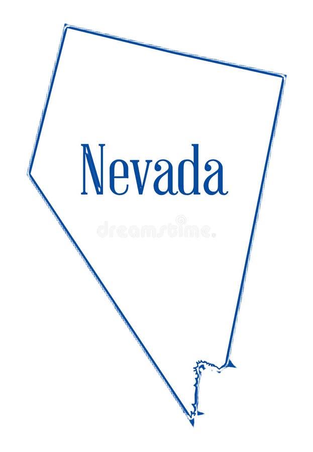 Nevada State Outline Map illustrazione di stock