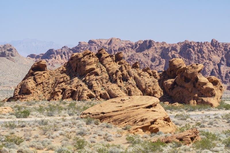 Nevada, Vallei van het Park van de Brandstaat stock fotografie