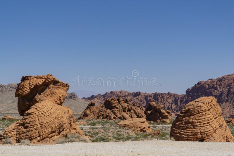 Nevada, Vallei van het Park van de Brandstaat stock foto's