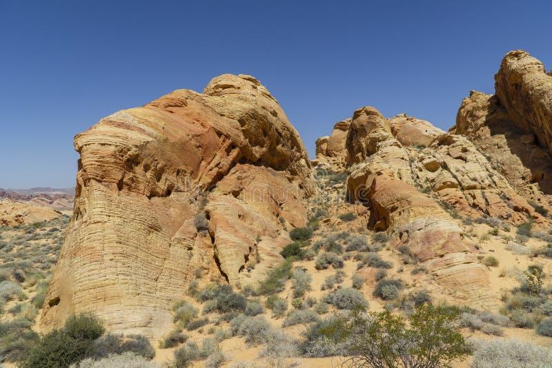 Nevada, Vallei van het Parkpanorama van de Brandstaat royalty-vrije stock fotografie