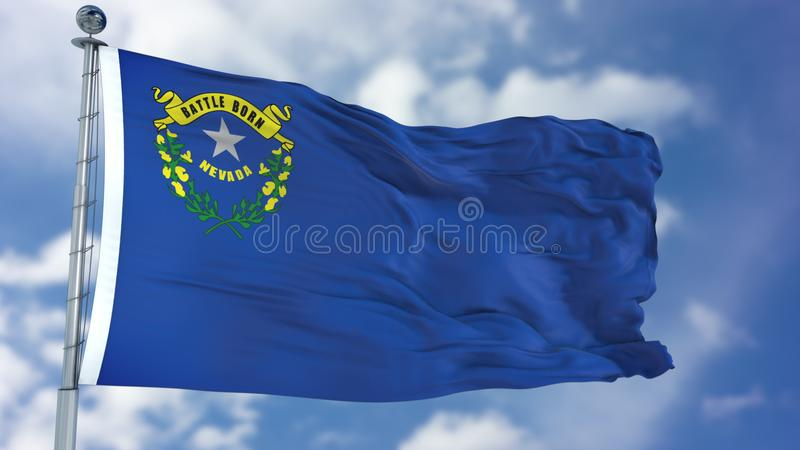 Nevada Waving Flag stockbilder