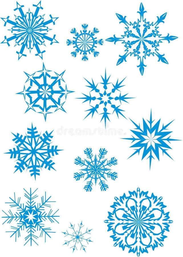Nevadas azules stock de ilustración