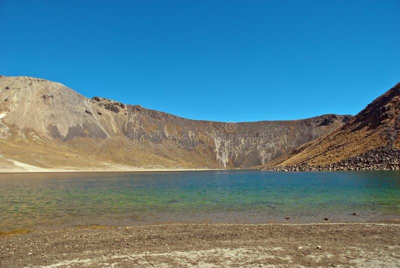 Nevado de Toluca, gammal vulkan arkivfoton