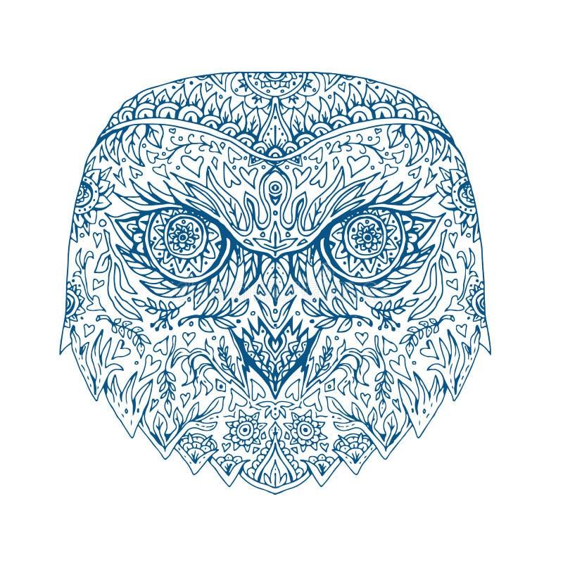 Nevado Owl Head Mandala libre illustration