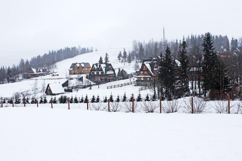 Nevar em montanhas de Tatry. fotografia de stock