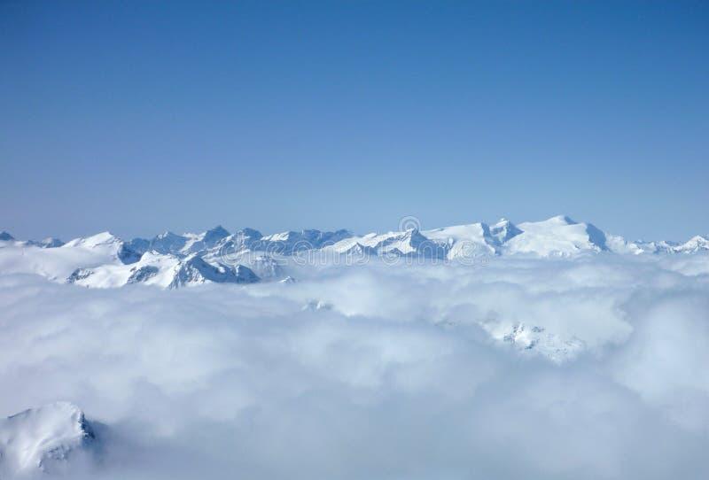 Neve Áustria das montanhas imagens de stock royalty free