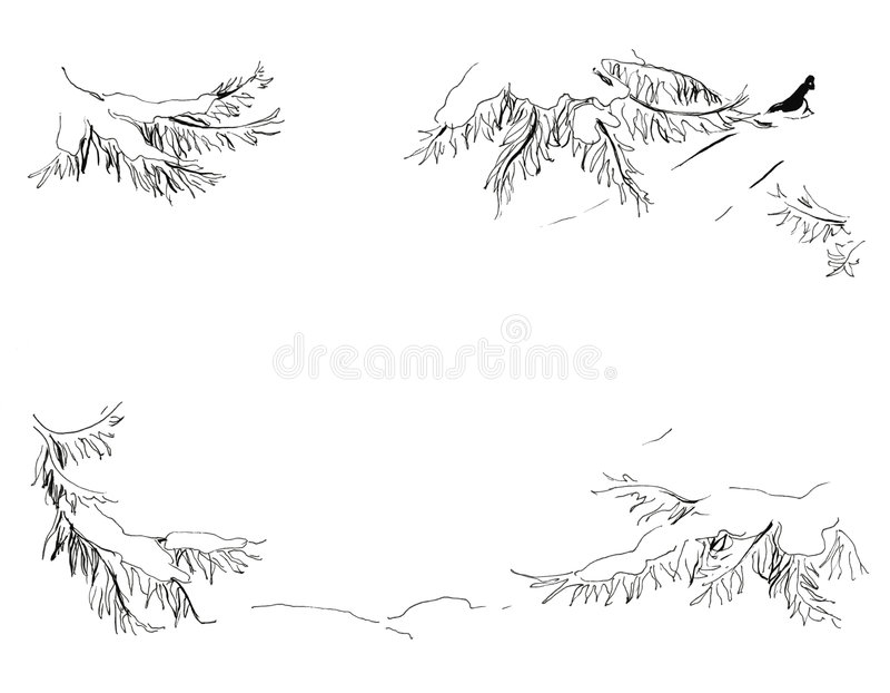 Neve ilustração royalty free