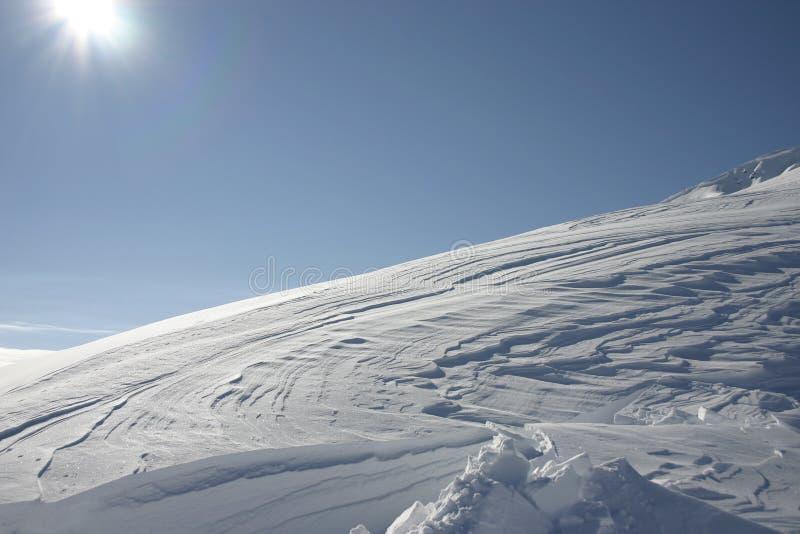 Neve & vento 1 fotografie stock