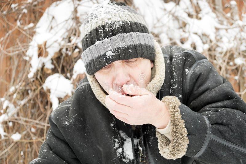 Neve antropófaga fotografia de stock