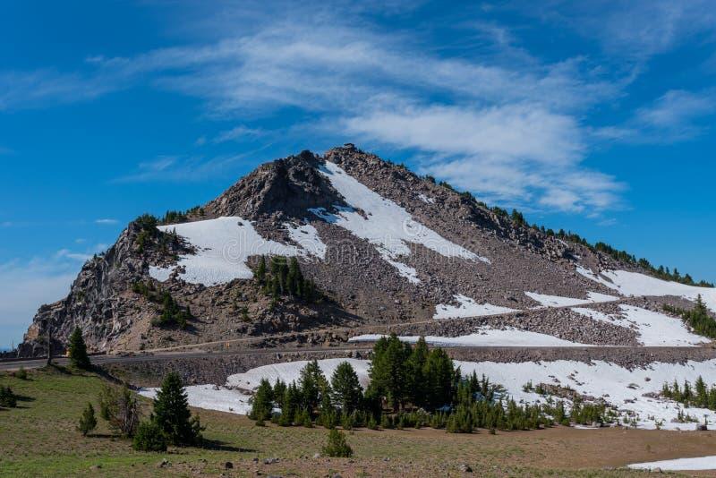 A neve atrasa-se na fuga ao guarda Overlook fotos de stock
