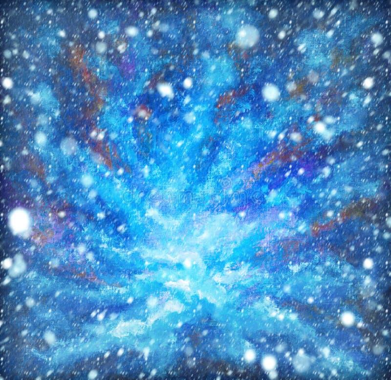 Neve Background E immagine stock