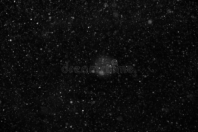 Neve branca no fundo preto imagens de stock royalty free