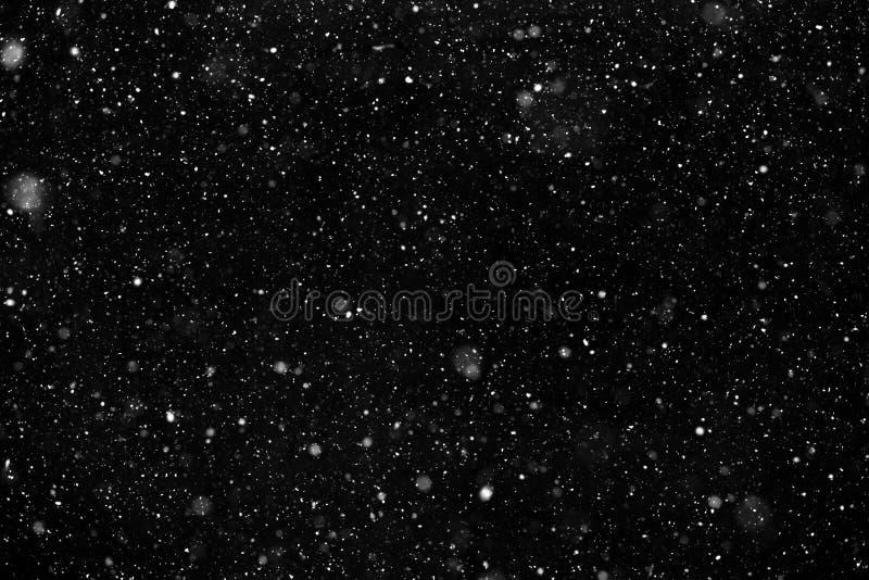 Neve branca no fundo preto fotos de stock royalty free