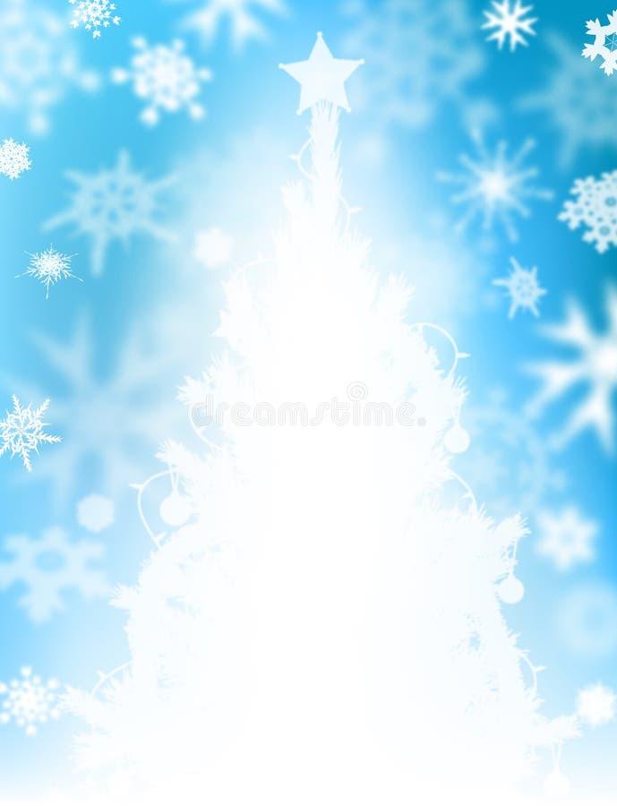 Neve da árvore de Natal ilustração stock