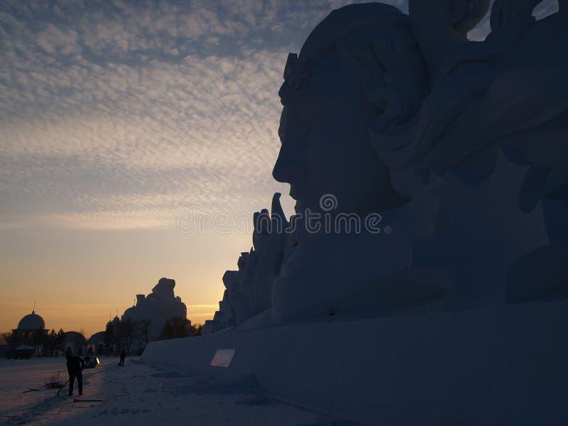 Neve da ilha de Sun do cenário de Harbin imagem de stock royalty free