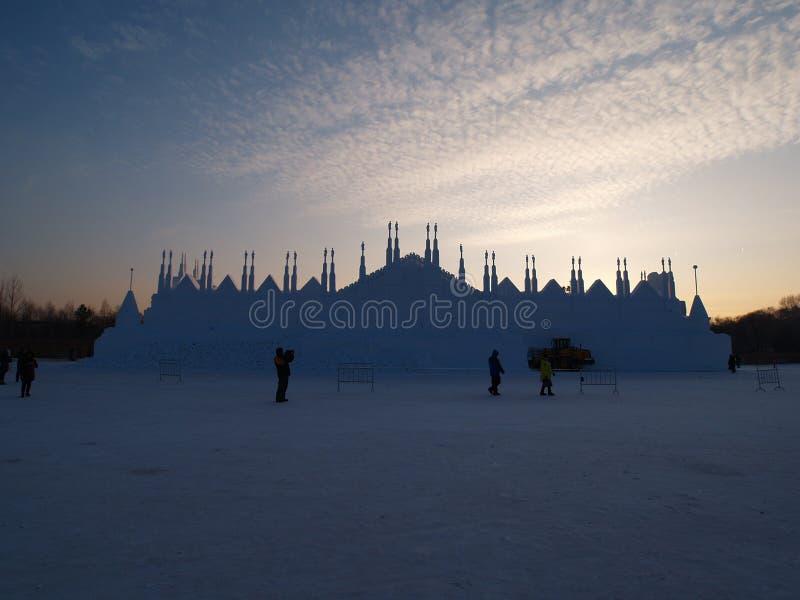Neve da ilha de Sun do cenário de Harbin foto de stock royalty free