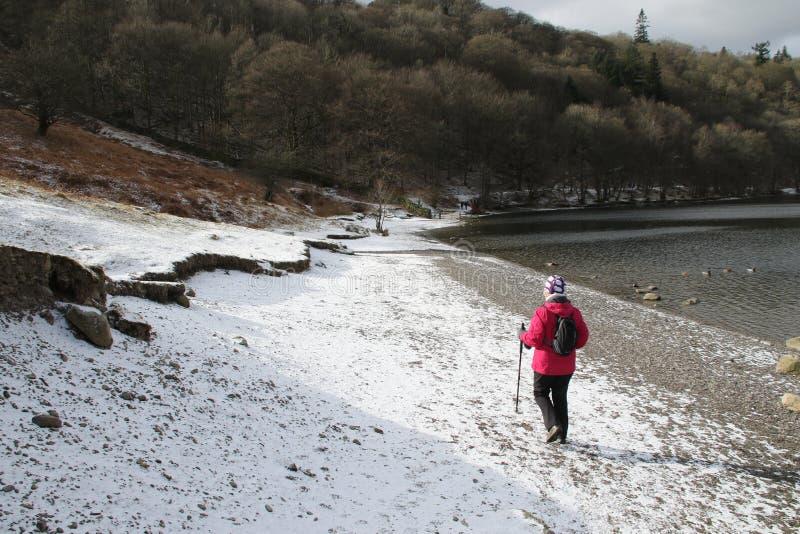 Neve de Inglaterra do curso do distrito do lago fotos de stock royalty free