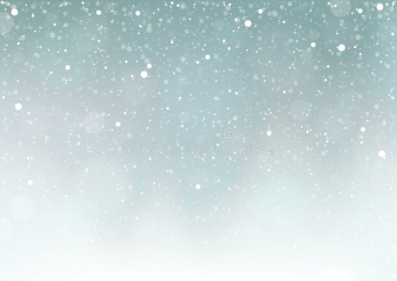 Neve de queda ilustração royalty free