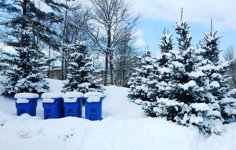 Neve dei rifiuti immagine stock