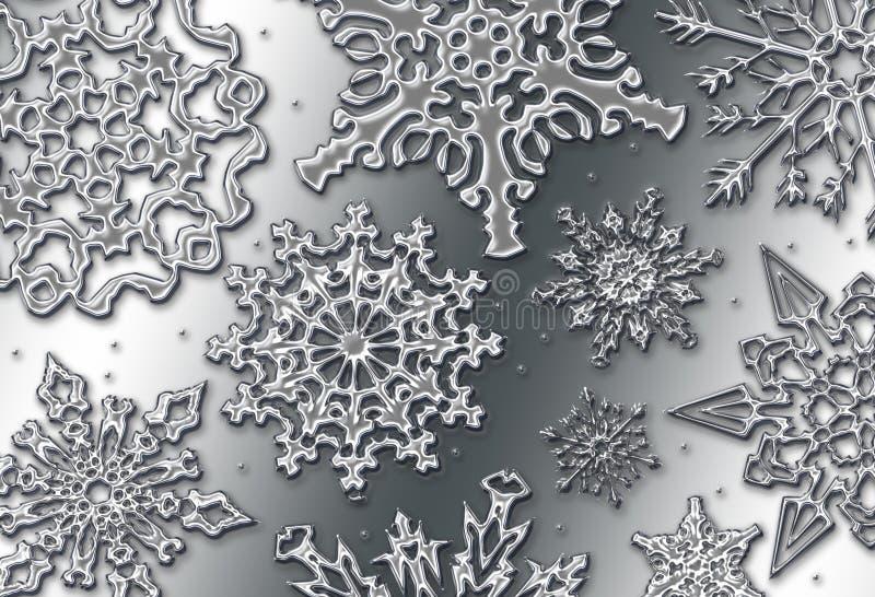 Neve del bicromato di potassio illustrazione vettoriale