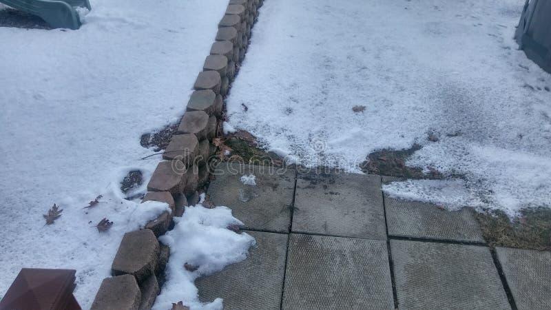Neve del marciapiede fotografia stock libera da diritti