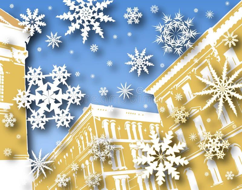 Neve del pan di zenzero royalty illustrazione gratis