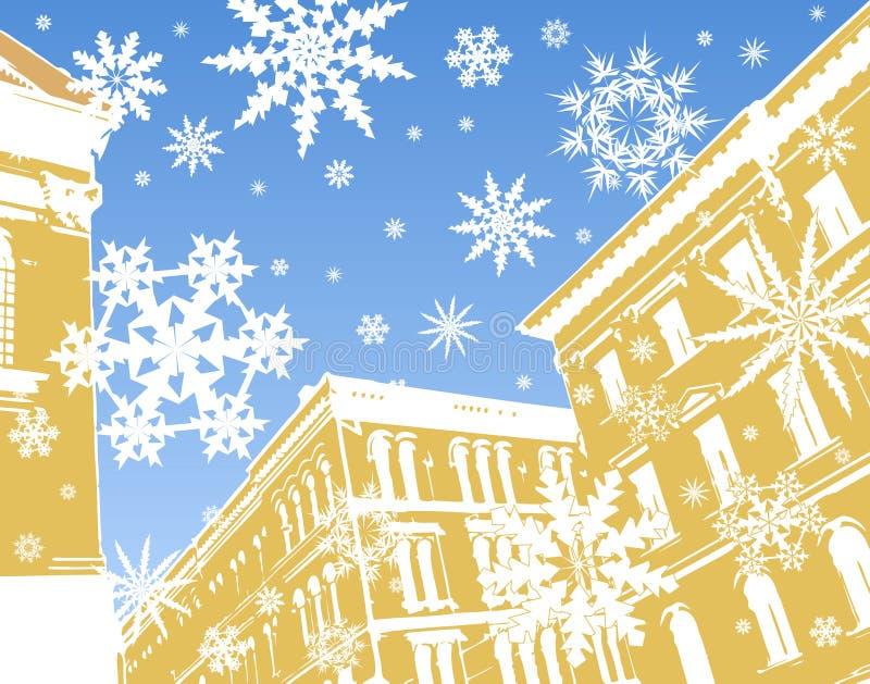 Neve del pan di zenzero illustrazione vettoriale