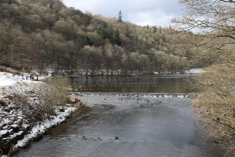 Neve dell'Inghilterra di viaggio del distretto del lago fotografia stock libera da diritti