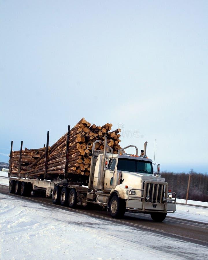 Neve di registrazione del camion immagine stock
