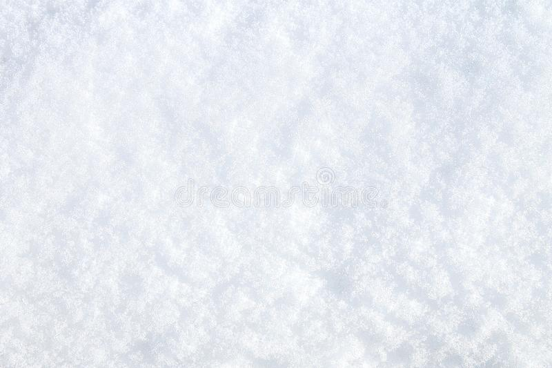 Neve do inverno Opinião superior da textura da neve da neve Textura para o projeto Textura do branco nevado Flocos de neve fotografia de stock