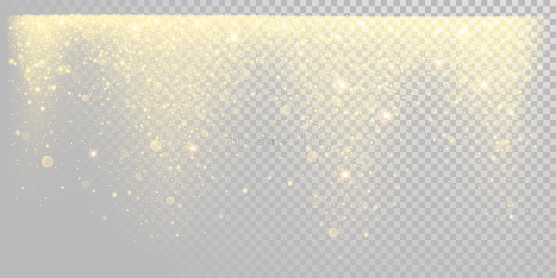 Neve dorata di scintillio di festa di Natale o coriandoli scintillanti dell'oro sul modello bianco del fondo Lustro dorato della  illustrazione vettoriale