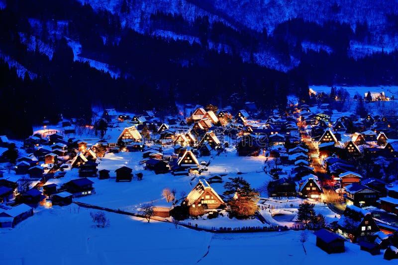 Neve e noite imagens de stock royalty free
