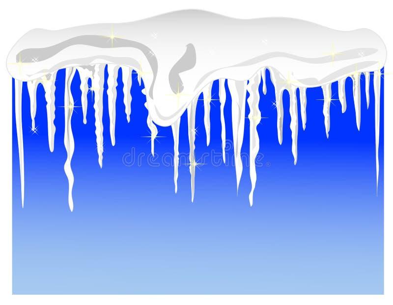 Neve e sincelos ilustração do vetor