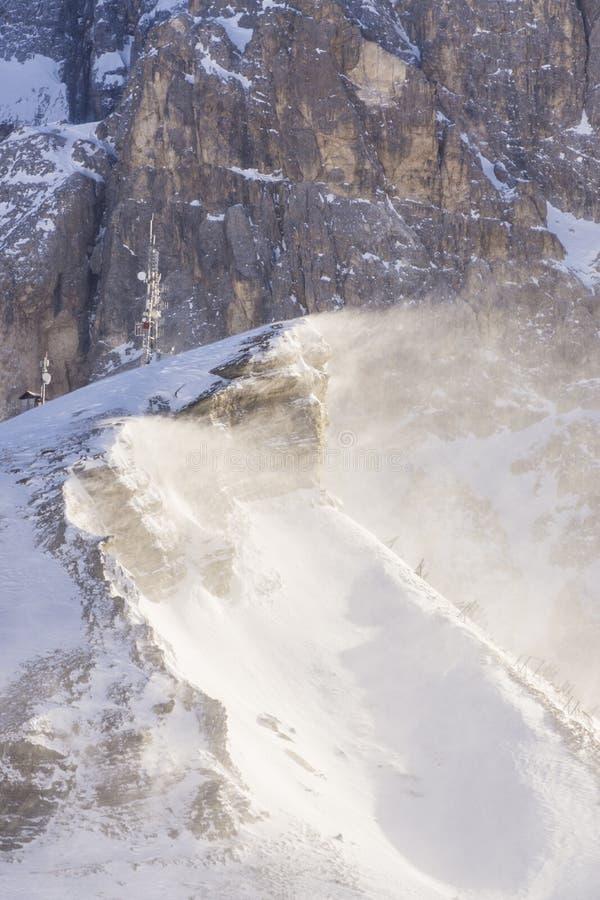 Neve e vento fotografia de stock