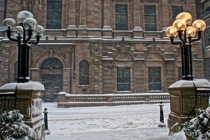 Neve em Boston imagem de stock royalty free