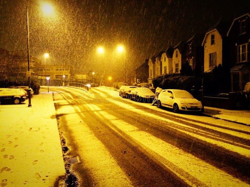 Neve em Londres imagens de stock royalty free