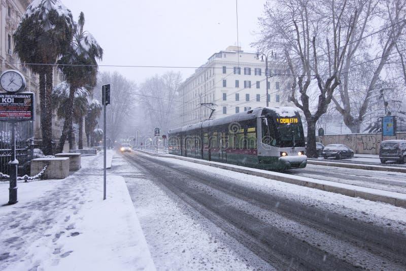 Neve em Roma imagem de stock royalty free