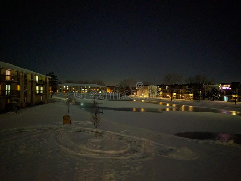 Neve, frio, inverno, gelo, lago fotografia de stock