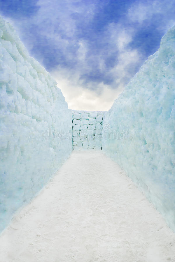 Neve Maze End foto de stock royalty free