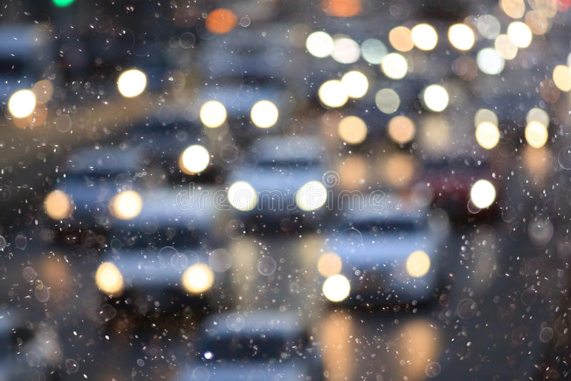 Neve na cidade ilustração royalty free